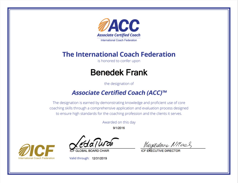 Frank Benedek coach ACC
